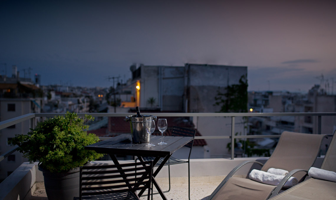 2 Bed apartment with balcony and view, in Athens Greece